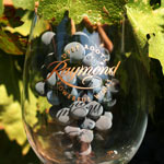 Raymond Vineyards Logo Glass with Wine Grapes